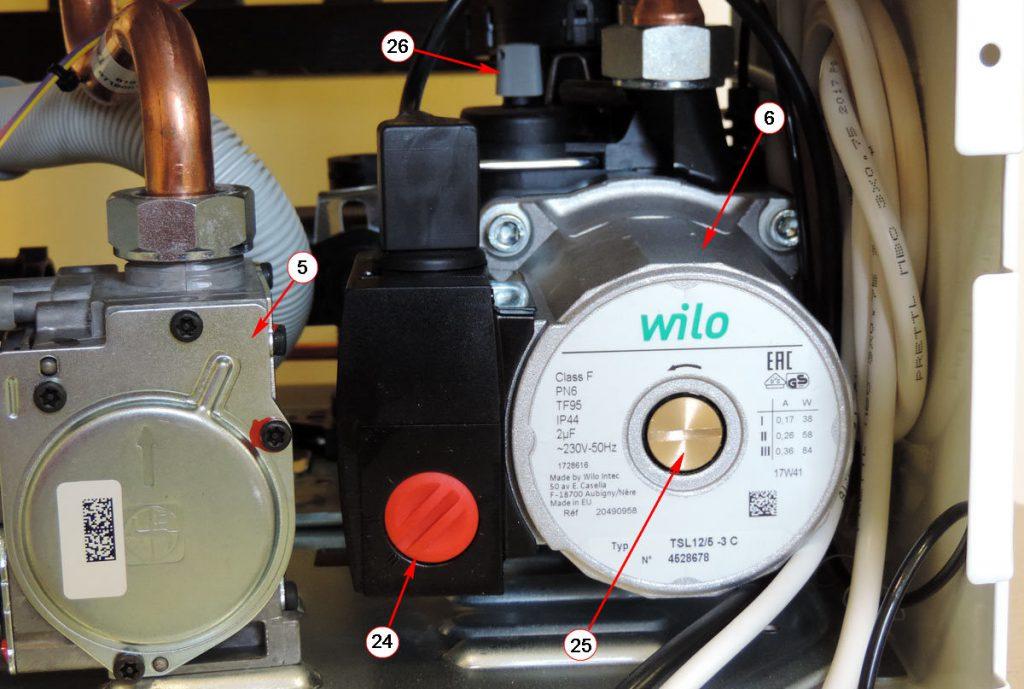 Циркуляционный насос Wilo котлаBosch Gaz 6000-24